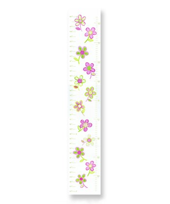 Pink & Green Floral Growth Chart
