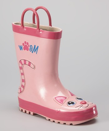 Pink Kitty Rain Boot