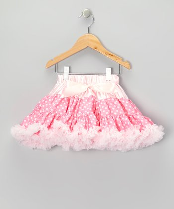 Pink Polka Dot Pettiskirt - Infant & Toddler