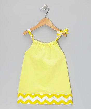 Yellow Zigzag Swing Dress - Infant & Girls