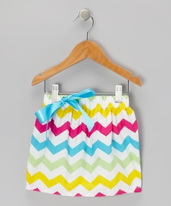 Rainbow Zigzag Skirt - Toddler & Girls