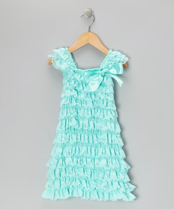 Mint Tiered Lace Ruffle Dress - Infant