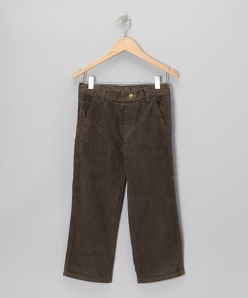 Charcoal Corduroy Skinny Pants - Toddler & Boys