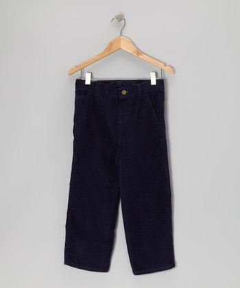 Navy Corduroy Pants - Toddler & Boys