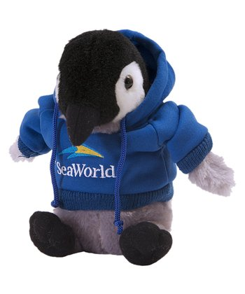 Blue Hoodie Penguin Plush Toy