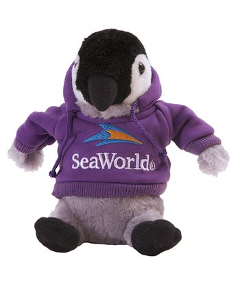 Purple Hoodie Penguin Plush Toy