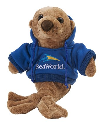 Blue Hoodie Sea Lion Plush Toy