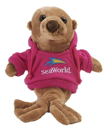 Pink Hoodie Sea Lion Plush Toy