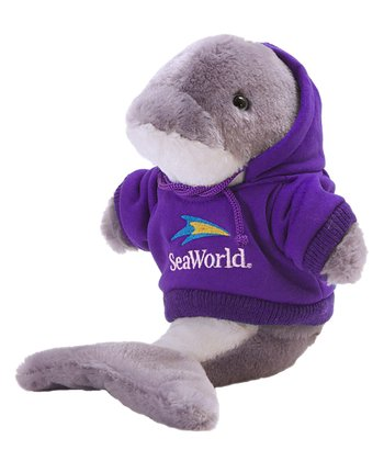 Purple Hoodie Dolphin Plush Toy