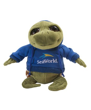 Blue Hoodie Sea Turtle Plush Toy