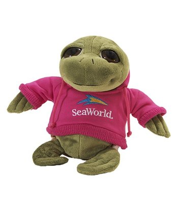 Pink Hoodie Sea Turtle Plush Toy