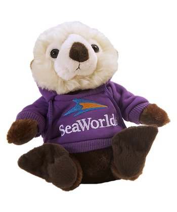 Purple Hoodie Sea Otter Plush Toy