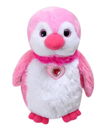 Pink Posh Penguin Plush Toy