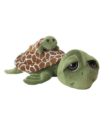 Bright Eyes Sea Turtle & Baby Plush Toy
