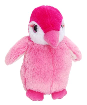 Squeakerz Pink Penguin Plush Toy