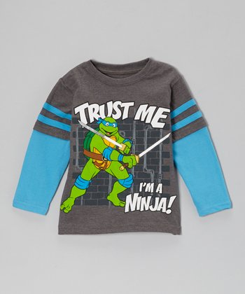 Blue TMNT 'Trust Me' Layered Tee - Toddler