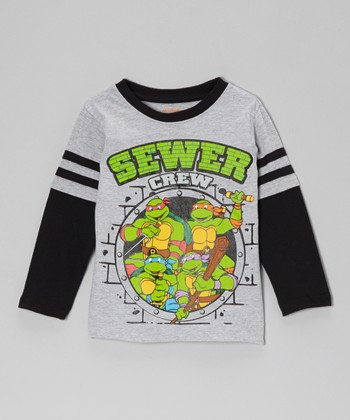 Gray TMNT 'Sewer Crew' Layered Tee - Toddler