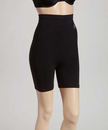 Black Thigh Slimmer Shaper Shorts - Women & Plus