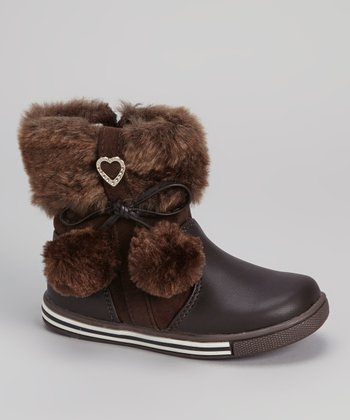 Brown Pom-Pom Boot