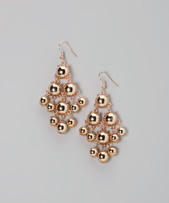 Rose Gold Mod Dot Earrings