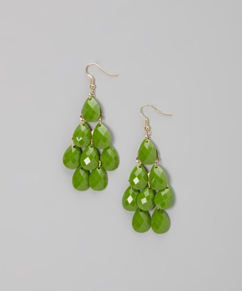 Moss Green Teardrop Earrings