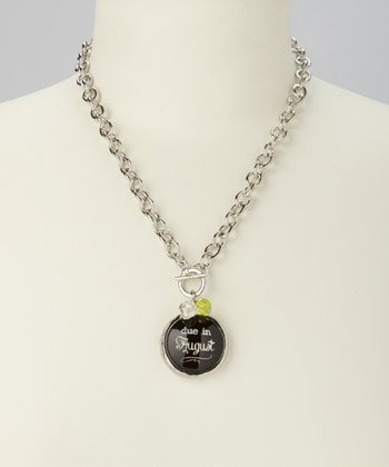'Due in August' Charm Necklace