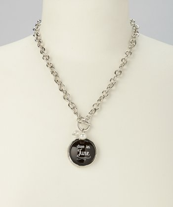 'Due in June' Charm Necklace