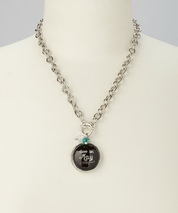 'Due in May' Charm Necklace