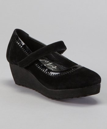 Black Wedge Mary Jane