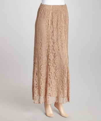 Taupe Lace Skirt