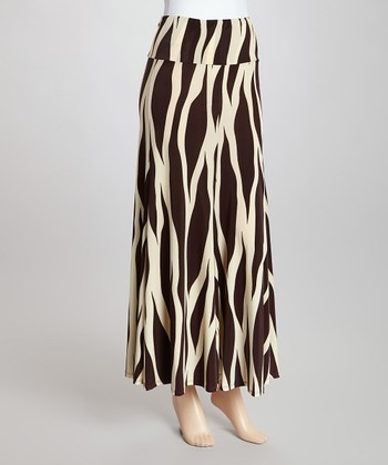 Brown & Ivory Zebra Skirt - Women & Plus