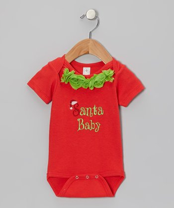 Red & Green 'Santa Baby' Bodysuit - Infant