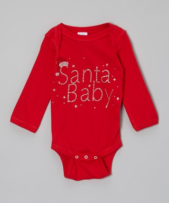 Red 'Santa Baby' Bodysuit - Infant