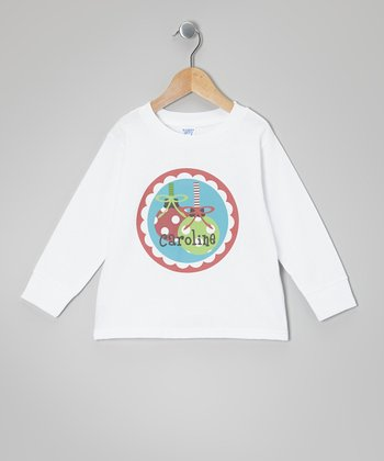 White Ornament Personalized Tee - Infant, Toddler & Kids