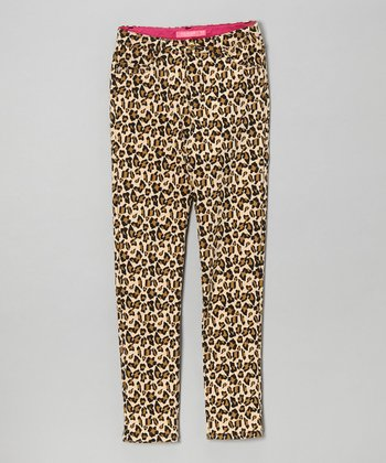 Tan Leopard Pants