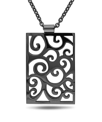 Black Vine Pendant Necklace