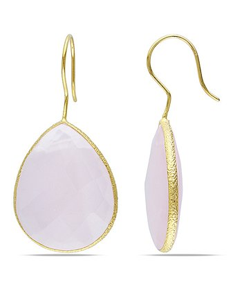 Pink & Yellow Gold Teardrop Earrings