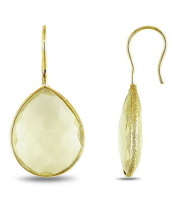 Yellow & Yellow Gold Teardrop Earrings