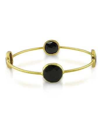 Black & Yellow Gold Bangle