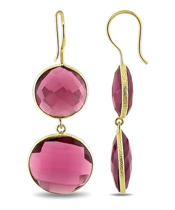 Red & Yellow Gold Drop Earrings