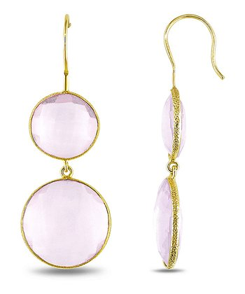 Pink & Yellow Gold Drop Earrings