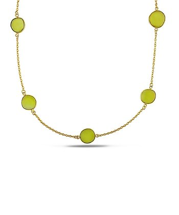 Yellow Onyx & Yellow Gold Gem by the Yard Necklace