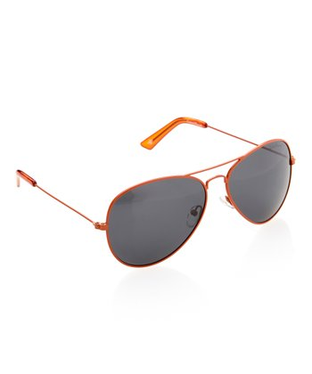 Orange Polarized Pilot Sunglasses