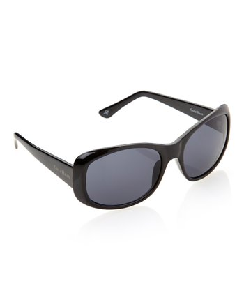 Black Flare Rectangle Sunglasses