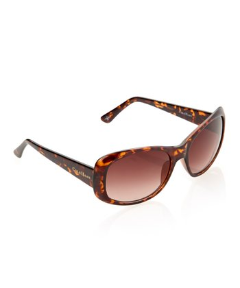 Tortoise Flare Rectangle Sunglasses