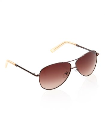 Bronze & Honey Tipped Pilot Sunglasses