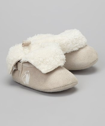 Off-White Faux Fur Booties
