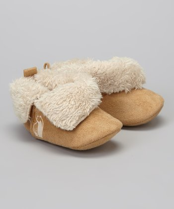 Latte Faux Fur Booties