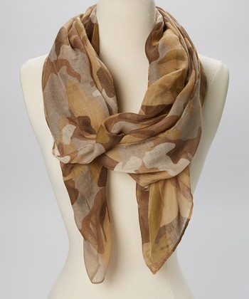 Green Camo Sheer Scarf
