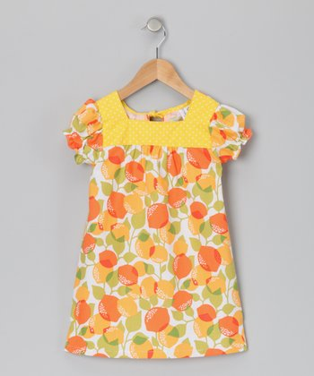 Yellow & Orange Joan Dress - Infant, Toddler & Girls